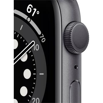 Smartwatch Apple Watch Series 6 GPS 44mm Gray Alu Case Black Sport Band