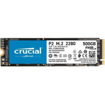 SSD Crucial P5 - Solid-State-Disk - 500 GB - PCI Express 3.0 (NVMe)