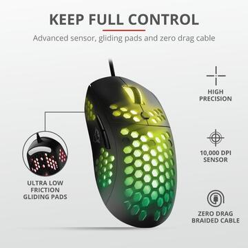 Mouse Trust GXT 960 Graphin Light Gaming Mouse