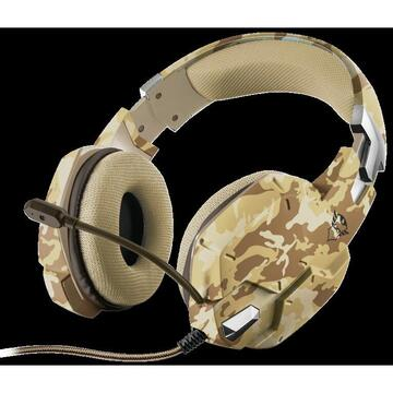 Casti Trust GXT 322D Carus Gaming Headset dese