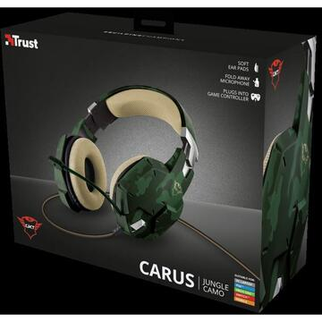 Casti Trust GXT 322C Carus Gaming Headset jung