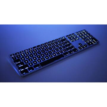Tastatura Matias Keyboard aluminum Mac bluetooth backlight Silver