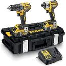 DeWALT cordless hammer drill DCK266P2 set, 18V, 2-piece. (yellow / black, tough box, 2x battery 5Ah incl. cordless impact wrench)