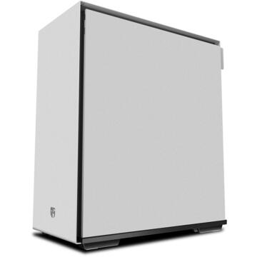 """Carcasa CARCASA DeepCool Middle-Tower ATX, 1* 120mm fan (inclus), tempered glass, panouri laterale magnetice, tavan amovibil, front audio & 2x USB 3.0, white """"MACUBE 310P WH"""""""