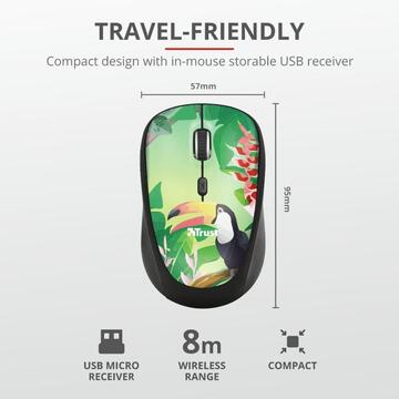 Mouse Trust Yvi Wireless Mouse - toucan