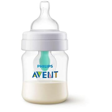 Biberon Philips-Avent SCF810/14, cu dispozitiv anticolici AirFree™ si tetina debit lent, 125 ml