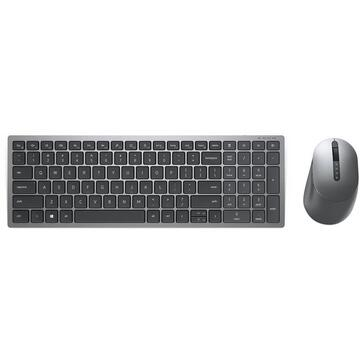 Tastatura Dell Multi-Device Wireless Keyboard and Mouse Combo KM7120W - Tastatur-und-Maus-Set - USA International (QWERTY) - Titan Gray