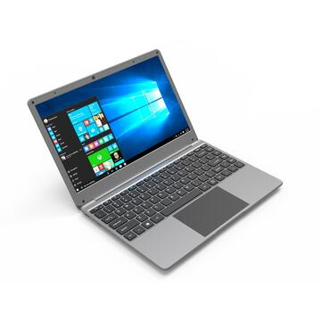 "Notebook Weigo 15.6"" FHD Quad Core N4100 2.40 GHz Turbo 8GB DDR4, SSD 128 GB + 64GB eMMC Windows 10 Pro Aluminium Black"