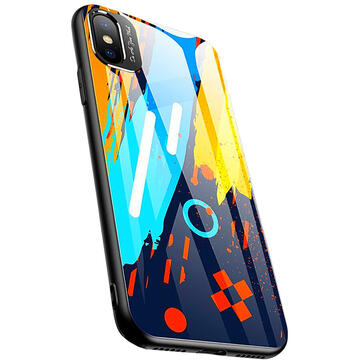 Husa STAR Husa Capac Spate Color Glass Pattern 1 Multicolor APPLE iPhone X, iPhone Xs