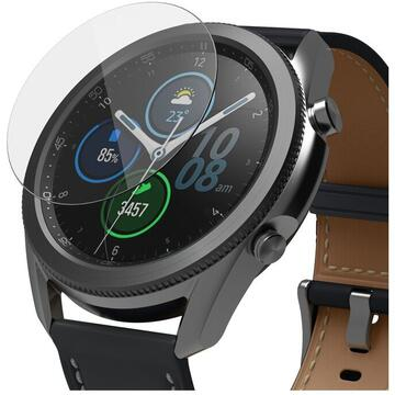 Folie sticla securizata Samsung Galaxy Watch 3 45mm 9H 0,33 mm Ringke ID Glass (Set 4 bucati, 3+1 GRATIS)