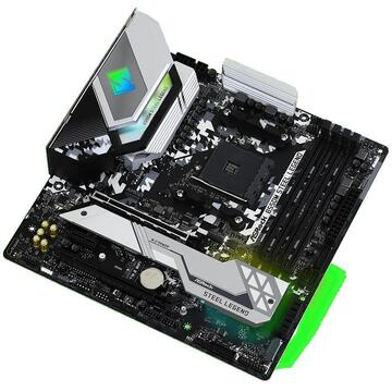 Placa de baza MB AM4 ASROCK B550M STEEL LEGEND