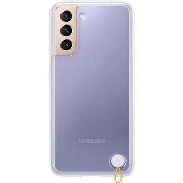 Husa Samsung S21  Clear Protective Cover White
