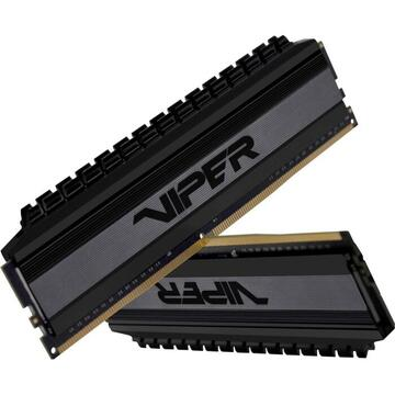 Memorie Patriot Viper 4 Blackout DDR4 - 64GB -3000 - CL- 16 -Dual Kit (PVB464G300C6K)