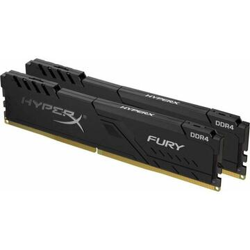 Memorie Kingston HyperX DDR4 - 64 GB -3600 - CL - 18 - Dual Kit, Fury Black (black, HX436C18FB3K2 / 64)