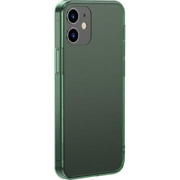 Husa Baseus Husa Capac Spate Frosted Glass Verde APPLE Iphone 12, Iphone 12 Pro