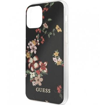 Husa Guess Husa Capac Spate Flower Collection Negru APPLE iPhone 11 Pro, iPhone 11 Pro Max