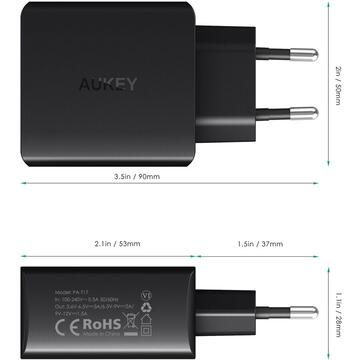 Incarcator de retea AUKEY PA-T17 mobile device charger 1xUSB Quick Charge 3.0 3A 18W