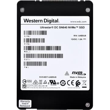"Western Digital Ultrastar DC SN640 2.5"" 3840 GB PCI Express 3.1 3D TLC NVMe"