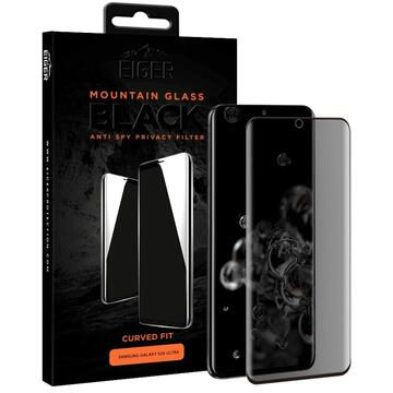Eiger Folie Sticla 3D Privacy Mountain Glass Samsung Galaxy S20 Ultra Clear (0.33mm, 9H, case friendly, curved)