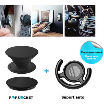 Popsockets Suport PopGrip Stand Adeziv Embossed Metal Python