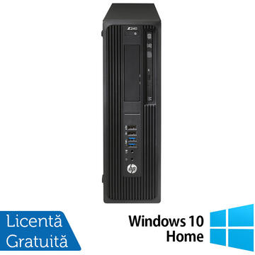 Desktop Refurbished Workstation HP Z240 Desktop, Intel Xeon Quad Core E3-1230 V5 3.40GHz-3.80GHz, 16GB DDR4, SSD 240GB SATA, nVidia K620/2GB, DVD-RW + Windows 10 Home