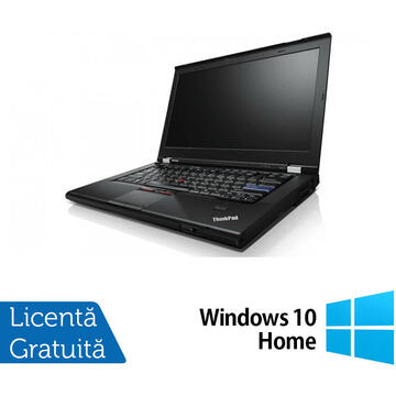 Laptop Refurbished Laptop Lenovo ThinkPad T420s, Intel Core i7-2640M 2.80GHz, 8GB DDR3, 120GB SSD, DVD-RW, 14 Inch, Webcam + Windows 10 Home