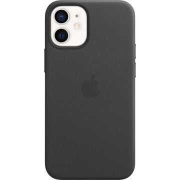 Husa Apple Husa Original Leather iPhone 12 Mini, MagSafe, Black
