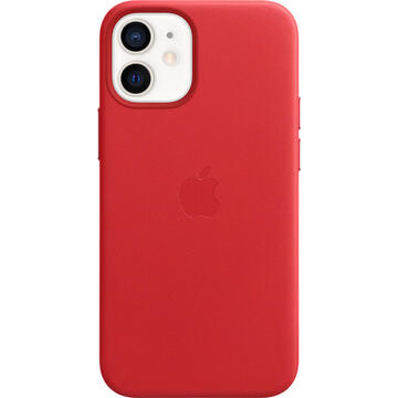 Husa Apple Husa Original Leather iPhone 12 Mini, MagSafe, Red