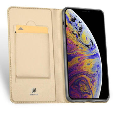 Husa Dux Ducis Husa Book Skin Pro iPhone 11 Gold