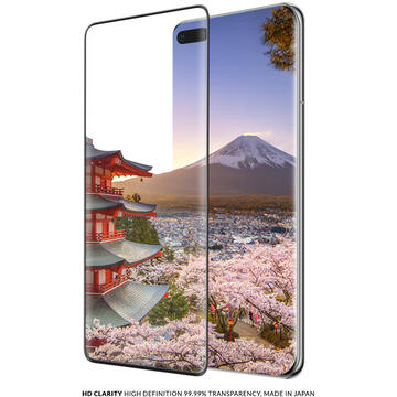 Husa Eiger Folie Sticla 3D Edge to Edge Huawei P40 Pro / P40 Pro Plus Clear Black (0.33mm, 9H, perfect fit, curved, oleophobic)