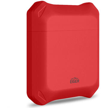 Husa Eiger Husa North Case Airpods Generation 1/2 Swiss Red