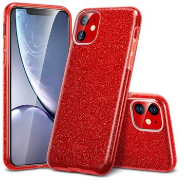 Husa Esr Husa Makeup Serie Bling Glitter iPhone 11 Red