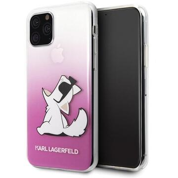 Husa Karl Lagerfeld Husa Fun Glasses Choupette iPhone 11 Pro Roz
