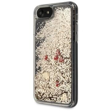 Husa Guess Husa Glitter Floating Hearts iPhone SE 2020 / 8 / 7 Auriu