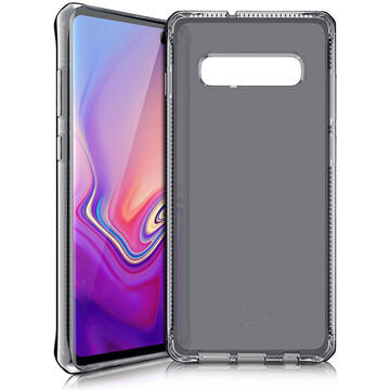 Husa IT Skins Husa Spectrum Clear Samsung Galaxy S10 Plus G975 Black (antishock,antimicrobial)