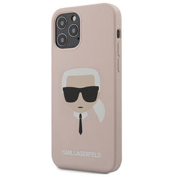 Husa Karl Lagerfeld Husa Silicon Karl's Head iPhone 12 / 12 Pro Roz Deschis