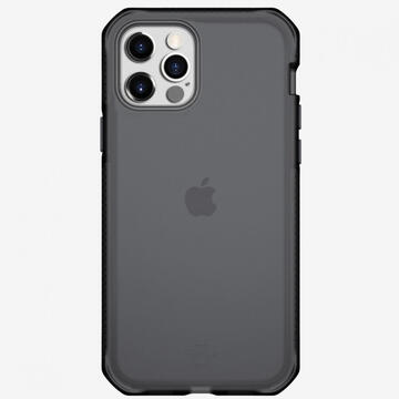 Husa IT Skins Husa Supreme Frost iPhone 12 Pro Max Grey & Black (antishock,antimicrobial)