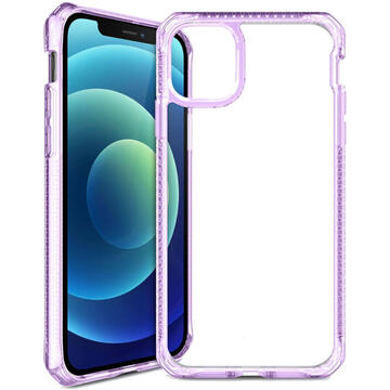 Husa IT Skins Husa Hybrid Clear iPhone 12 Mini Light Purple & Transparent (antishock)