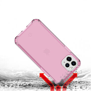 Husa IT Skins Husa Spectrum Clear iPhone 11 Pro Light Pink (antishock,antimicrobial)