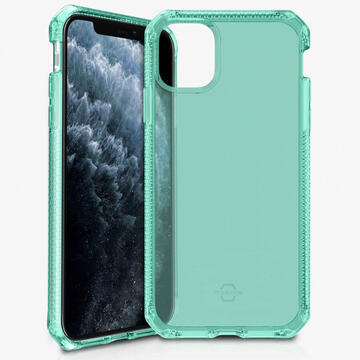 Husa IT Skins Husa Spectrum Clear iPhone 11 Pro Tiffany Green (antishock,antimicrobial)