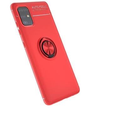 Husa Lenuo Husa Shockproof TPU Samsung Galaxy A51 Red (suport ring)