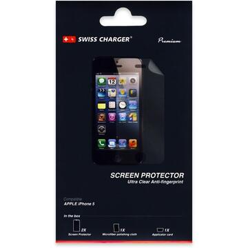 Swiss Charger Folie Clear iPhone SE/5S (2 fata)