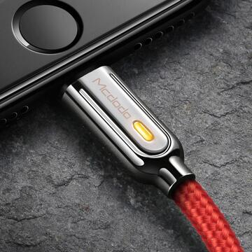 Mcdodo Cablu Auto Disconnect Lightning Red (1.2m, max 2A, led indicator)-T.Verde 0.1 lei/buc