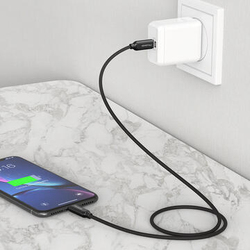 Mcdodo Cablu Smart PD Quick Charge Lightning la Type-C Black (1.2m)-T.Verde 0.1 lei/buc