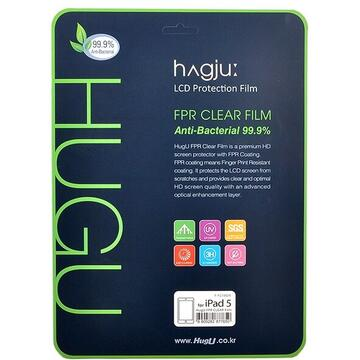 Hugu Folie Clear iPad 5 Retina Antifingerprint (2 fata)