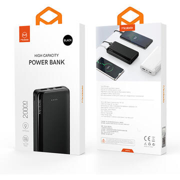 Baterie externa Mcdodo Power Bank Dual Blade Series Black 20.000 mAh
