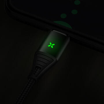 Mcdodo Cablu Storm Series Magnetic MicroUSB Quick Charger Black 4.0 (1.2m)-T.Verde 0.1 lei/buc