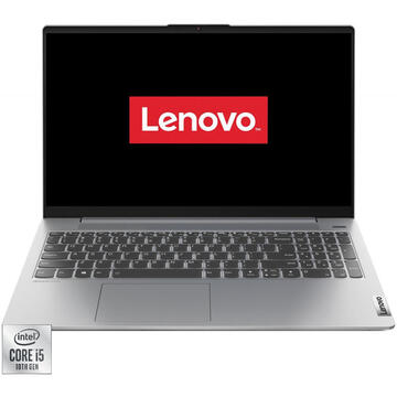 Notebook Lenovo 15.6'' IdeaPad 5 15IIL05 FHD IPS Procesor Intel® Core™ i5-1035G1 16GB DDR4 512GB SSD GMA UHD Free DOS Platinum Grey