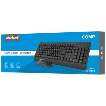 Tastatura KIT TASTATURA SI MOUSE CU FIR  WDS100 REBEL
