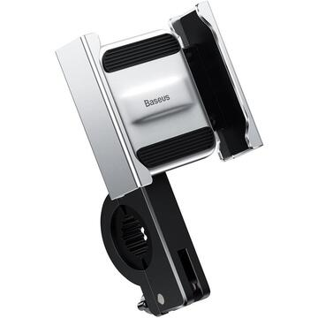 Phone holder Baseus Knight for motorcycle / bicycle / scooter (silver)
